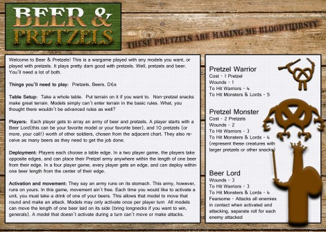Beer and Pretzels Page 1