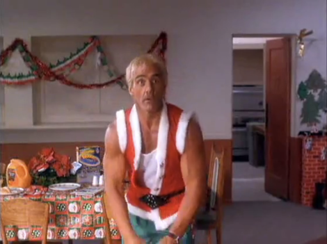 santa with muscles L