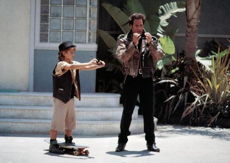 THE ADVENTURES OF FORD FAIRLANE, from left: Brandon Call, Andrew Dice Clay, 1990. ©20th Century Fox Film Corporation, TM & Copyright /
